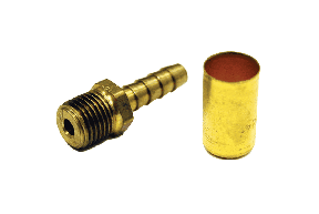 General Purpose Low Pressure Brass Crimp Fittings